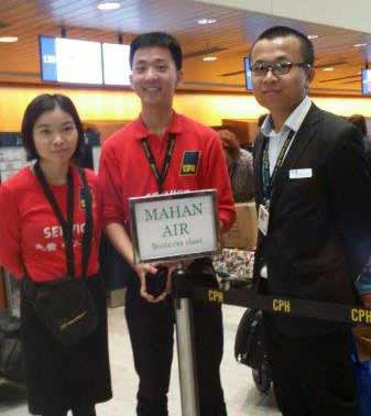 Chinese Staff in Copenhagen Airport