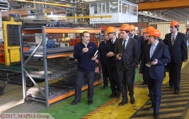 UKRAINIAN INFRASTRUCTURE DELEGATION VISITS MAPNA LOCOMOTIVE COMPANY